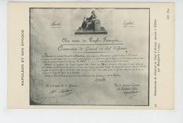 NAPOLÉON ET SON EPOQUE - Commission De Général En Chef D'Armée , Donnée à KLEBER Par BONAPARTE - Personnages Historiques