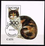 Tansania 1992, Michel # Block 201 O European Domestic Cat (Felis Silvestris Catus) - Tanzanie (1964-...)