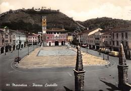 Cartolina Marostica Piazza Castello Scacchiera 1959 Colorata - Vicenza