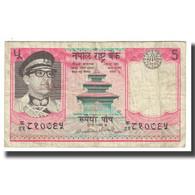 Billet, Népal, 5 Rupees, KM:23a, TB - Nepal