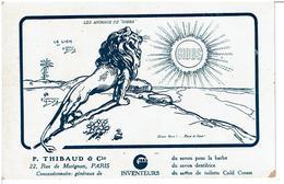 """LES ANIMAUX DE """" GIBBS """"  LE LION  - ILLUSTRATEUR  O' Galop -  Carte Postale Publicitaire Savon,Dentifrice - Andere Illustrators"""