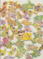 40 Pieces De Puzzle Carton - Publicité YOPLAIT - Autres Collections
