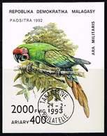 Madagaskar 1993, Michel # Block 209 O Military Macaw (Ara Militaris) - Madagascar (1960-...)