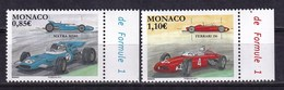 Monaco 2017 Formula 1 Legendary Race Cars 2v MNH - Cars