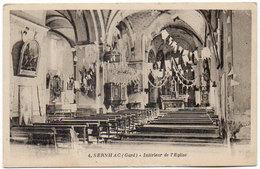 Cpa Gard - Sernhac - Intérieur De L'église - Otros Municipios
