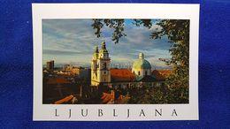 Ljubljana Cathedral From Castle Hill Slovenia - Slovénie