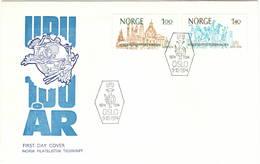 Norvegia Norge 1974 UPU U.P.U. Weltpostverein Universal Postal Union Centenary FDC - UPU (Union Postale Universelle)