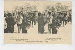 PARIS - S.M. EDOUARD VII A PARIS - Arrivée Des Personnages Officiels à La Gare Des Invalides - Carte STEREO - France