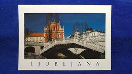 Ljubljana The Three Bridges With The Franciscan Church Slovenia - Slovénie
