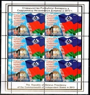 429 - Belarus - 2013 - The Belarus Presidency Of The CIS In 2013 - Sheetlet Of 6v - MNH - Lemberg-Zp - Wit-Rusland