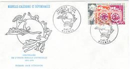 Nouvelle Caledonie 1974 UPU U.P.U. Weltpostverein Universal Postal Union Centenary FDC - UPU (Union Postale Universelle)