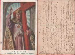 Cristo Re Vi Benedice Dal Suo Tempio Di Imperia. Viaggiata In Busta - Holy Places