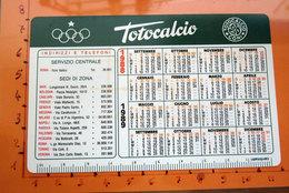 CALENDARIO TASCABILE 1988 TOTOCALCIO CON GIORNATE CAMPIONATO - Calendars
