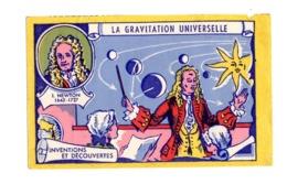 Buvard La Gravitation Universelle Newton Invention Et Decouverte Planete Espace - Blotters
