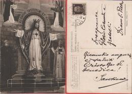 Cartolina Ricordo Del Tempio Nazionale Di Cristo Re Imperia. Viaggiata 1943 - Holy Places