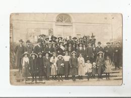 CARTE POSTALE ANCIENNE PHOTO NON SITUEE MAIRIE ? AVEC BELLE ANIMATION  (AFFICHE FETE A LA CAILLE 1912) - Cartes Postales