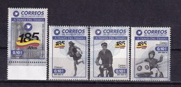 Ecuador 2016 Post Service Bicycle Motorcycle 4v MNH - Wielrennen