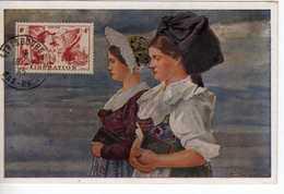 Carte Maximum Avec N°739 Libération Oblitérée Strasbourg 16/5/45  Editions Félix Luib - 1940-49