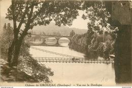 WW 24 GROLEJAC Le Château. Vue Sur La Dordogne - Frankrijk