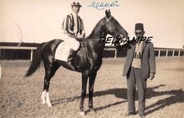"EGYPTE- ALEXANDRIE- Champ De Courses Propriétaires Cheval ""MAADI"" Et Son Jockey. Carte Photo Zachary's Press Agency - Horse Show"
