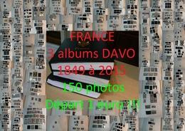 France - 1849 à 2015 - 3 Albums Et Pages DAVO - Timbres (description) - 150 Photos - Départ 1 Euro !!! - France