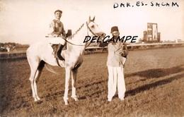 "EGYPTE- ALEXANDRIE-Champ De Courses Propriétaire Cheval ""dar.es.sacam"" Et Son Jockey.Carte Photo Zachary's Press Agency - Horse Show"