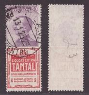 Regno, 50 Centesimi Pubblicitario Tantal Usato (Caffaz)      -CT32 - 1900-44 Vittorio Emanuele III
