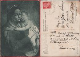 Maternità. Cartolina Ricordo  Cristo Re Imperia. Viaggiata 1943 - Holy Places