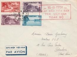 Vietnam Lettre Pour La France 1951 - Vietnam