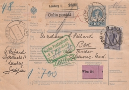 Autriche Bulletin D'expédition Lemberg Pour La Suisse 1911 - 1850-1918 Empire