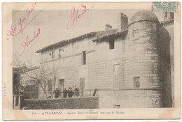 Cpa Gard - Aramon - Ancien Hôtel St-Michel, Vue Sur Le Rhône - Aramon