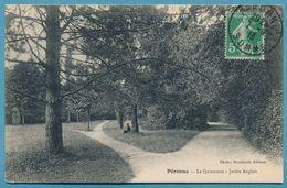PERONNE - Le Quinconce - Jardin Anglais (animation) -  Circulé 1913 - Peronne