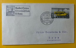 10127 - Lettre 1.Schweiz, Automobil-Post-Bureau 02.04.1938 Hundert Jahre Sekundarschule Nidau - Suisse