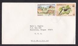 Kiribati: Cover To USA, 1985, 2 Stamp, Bird, Battle, World War 2, Overprint OKGS, Rare Real Use (traces Of Use) - Kiribati (1979-...)