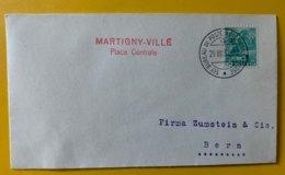 10128 - Lettre 1er Bureau De Poste Automobile 29.08.1937 Martigny-Ville Place Centrale - Suisse