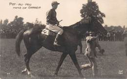 Champ De Courses Hippodrome Carte Photo POT-AU-FEU Monté Par GARNIER. - Horse Show