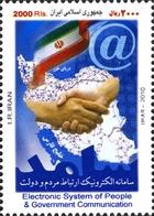 IRAN 2892B Télécoms, Main, Internet - Correo Postal