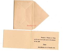 Faire Part Naissance Pasty Laure 1946 Fille Enveloppes - Birth & Baptism
