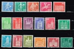 Schweiz 1960, Michel # 696 - 706, 708 - 711y, 712 X ** - Ongebruikt