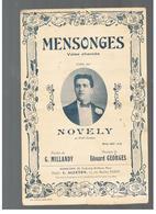 Partition Mensonges Valse Chantée Créée Par NOVELY Au Petit Casino Editions MERSOMM - Partitions Musicales Anciennes