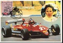 54973 San Marino, Maximum 1996  Racing Car Ferrari And Gilles Villeneuve - Cars