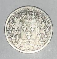 1/2 FRANC ARGENT LOUIS XVIII 1817 A Paris - G. 50 Centimes