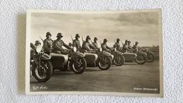 Foto Fotokarte Unsere Wehrmacht Kradmelder Motorad Beiwagen 2 WK Militär - 1939-45