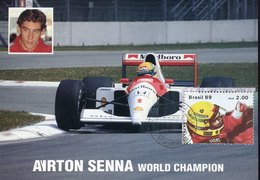 54977 Brasil, Maximum 1989   F1 Pilot  Ayrton Senna World Champion, Brasil Campeao Mundial Pilotos F1 1988 - Cars