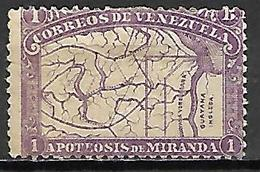 VENEZUELA.   1896.   Y&T N° 58 *.   .  Variété : Format Réduit - Venezuela