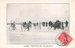 CANADA - MONTREAL - Courses Hippique Sur La Glace - Horse Trotting On Ice,Wheels. 1906 - Horse Show