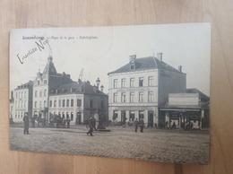 CPA Luxembourg - Place De La Gare - Bahnhofplatz - Charette - Circulée - Divisée - 1906 -Giberius A 123 - Luxembourg - Ville