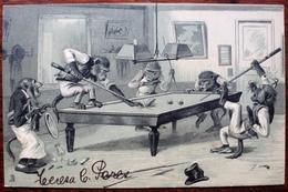 CPA Post Card - Prussia Raphael Tuck & Sons Art Series 942 Singes Monkeys Monkey Billard Billiards - Cartes Postales