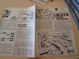 SPITIN20 Page De Revue Des Années 60/70 : LA TVA EN NEERLANDAIS  DE B.T.V. Expliquée Aux Enfants Dans Spirou - Practical