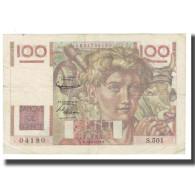 France, 100 Francs, Jeune Paysan, 1952, D AMBRIERES, GARGAM, 1952-10-02, TTB - 1871-1952 Circulated During XXth